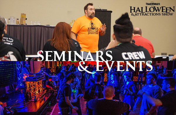 Seminars & Events at the Halloween & Attractions Show